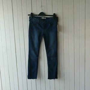 NWT Free People dark low rise crop jean leggings